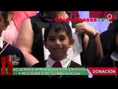 ENTREGAN ACTAS DE DONACIÓN A 36 ESCUELAS DE CHIMALHUACÁN