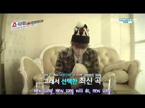 [720p/ENG SUB]140206 EXO Showtime Episode 11 Baekhyun Singing Cut