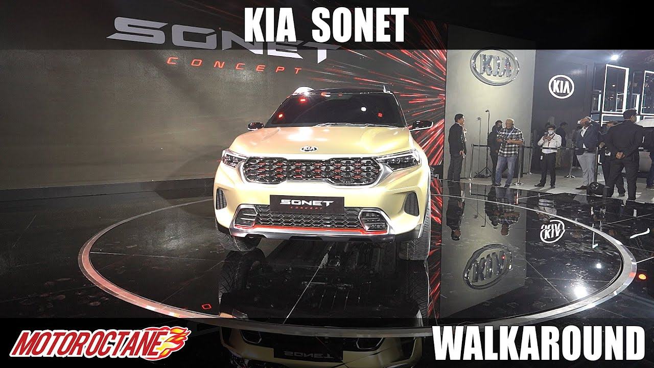Motoroctane Youtube Video - Kia Sonet - Brezza competition SUV | Hindi | Auto Expo 2020 | Motoroctane
