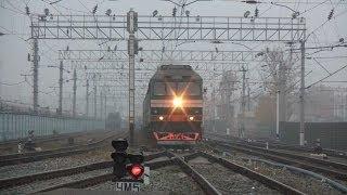 Тепловоз ТЭП70-0343 с поездом №15 Москва — Волгоград