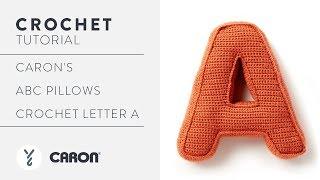 Crochet A Pillow  Letter A