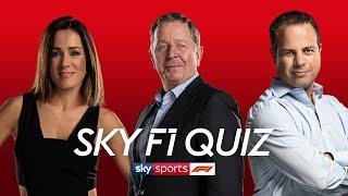 Martin Brundle vs Ted Kravitz vs Natalie Pinkham | Sky Sports F1 Quiz | Heat 2