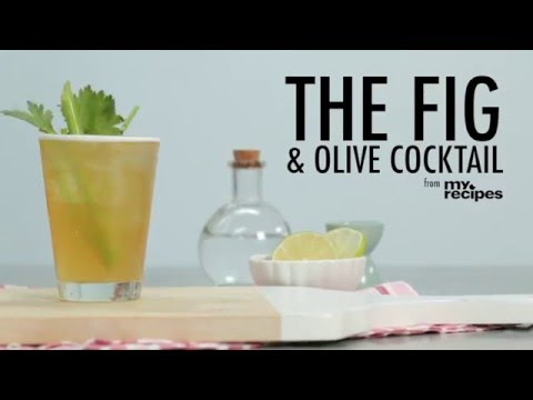 How to Make the Fig and Olive Cocktail