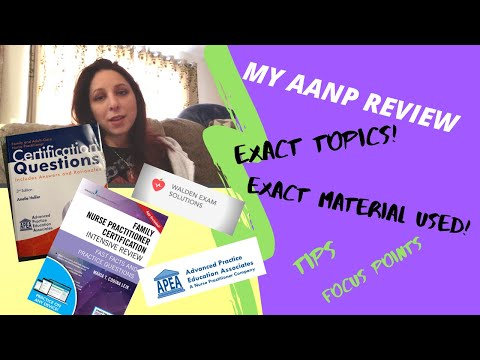 MY EXAM REVIEW | TOPICS I SAW | AANP - YouTube