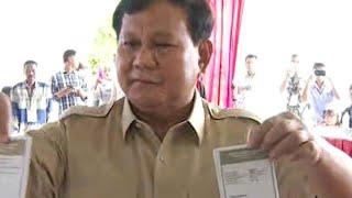 Prabowo Subianto Gunakan Hak Pilih di Hambalang