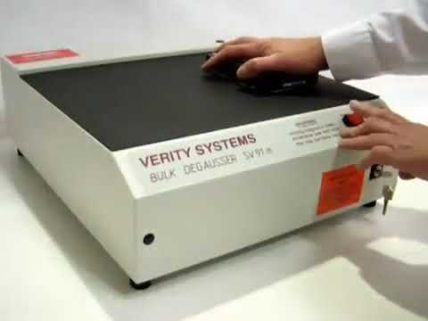 Video of the Verity SV91M CESG Approved Flat Bed Tape Degausser Shredder