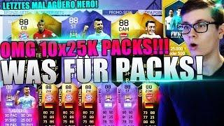 FIFA 16 PACK OPENING DEUTSCH  ULTIMATE TEAM  10x 25K PACKS OH SHIT HERO AGÜERO BOATENG IF