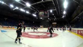 preview picture of video 'Heli-Cam: Beeindruckende Bilder Spiel Krefeld Pinguine - IFK Helsinki 23.08.2014'