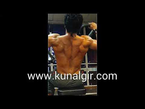 Sudheer Babu getting trained by Kunal Gir at Steel Gym