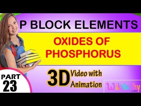 Oxides of phosphorus p block elements class 12 chemistry subject ...