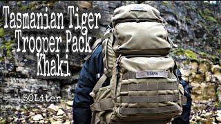 Review: TT Tasmanian Tiger Trooper Pack khaki 50 Liter Rucksack [Rucksackvorstellung]