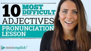 10 DIFFICULT ADJECTIVES   English Pronunciation Lesson