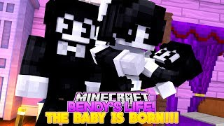 Minecraft BENDY'S LIFE #10-BENDY AND ALICE ANGEL HAVE A BABY!!!- Baby Leah Minecraft Adventures!