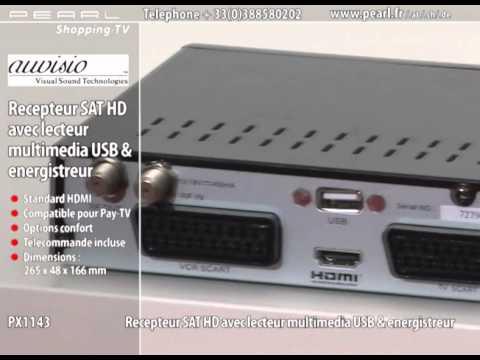 PX1143-RÉCEPTEUR SAT HD AVEC LECTEUR MULTIMÉDIA USB & ENREGISTREUR