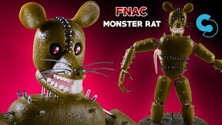 Monster Rat | Five Nights At Candys 3 | Air Dry Clay Tutorial