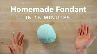 How To Make Homemade Fondant With Marshmallows