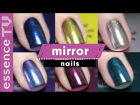 mirror nails in tollen farben selber machen - metal shock nail powder chrome look