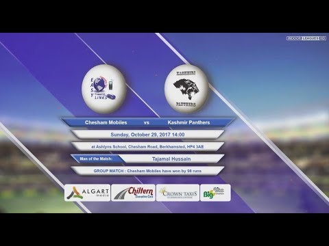 Video Chesham Mobiles VS Kashmir Panthers - 29-Oct-2017