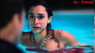Güneşi Beklerken 10.Bölüm Kerem Zeynep'i havuzda öpüyor