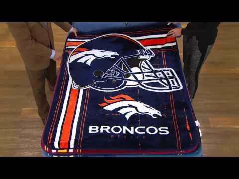 "NFL Team Plush 50"" x 60"" Throw Blanket by Northwest with Dan Hughes"