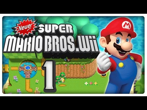 Newer Super Mario Bros Wii Co-Op (2 Player) Walkthrough - Part 1