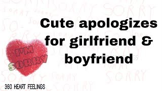 Cute Apologize Message For Girlfriend & Boyfriend | Sweet Apologies Quotes Status Video