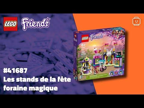 Vidéo LEGO Friends 41687 : Les stands de la fête foraine magique
