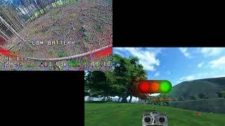 Transferring real life to Sim-Racing (The Drone Racing League Simulator)