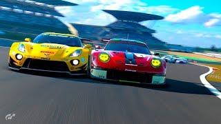 GT Sport - Daily Race Nürburgring GP - Porsche vs. Corvette Close Battle