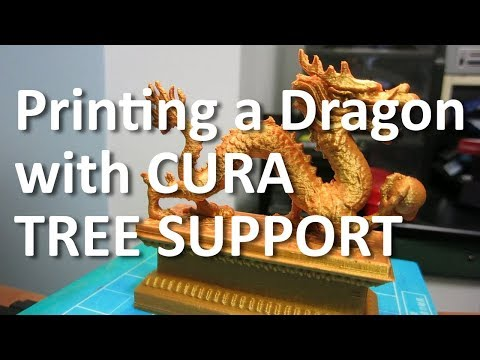 Cura 3 2 Tree Support - Dragon 3D Print with Ender 2 - YipZone