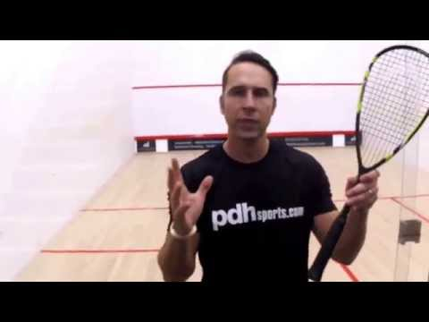 How to hold your squash racket – squash coaching tip by PDHSports.com