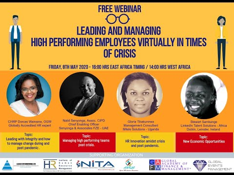 , title : 'Leading and Managing High Performing Employees in Times of Crisis - 8th May 2020