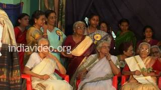 Honouring old teachers in Cotton Hill School, Thiruvananthapuram