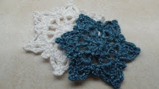 How to Crochet Winter Snowflake Applique #TUTORIAL #278