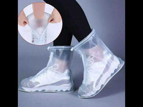 Чехлы/дождевик на обувь от дождя многоразовые с резиновой подошвой размер XL 41-42 CoverShoes (LG-29252) Video #1