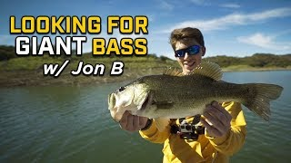 On The Hunt For GIANT Bass with JON B!