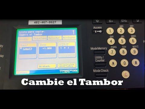 Cambie El Tambor bizhub 200/250/350/222/282/362
