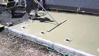 コンクリート仕上の作業