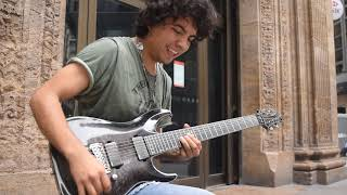 Bohemian Rhapsody version with electric guitar on the street