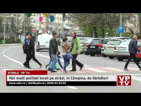 Mai mulți polițiști locali pe străzi, în Câmpina, de Sărbători