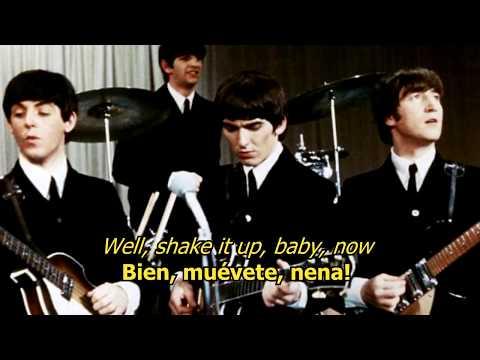 Twist and shout - The Beatles (LYRICS/LETRA) [Original]