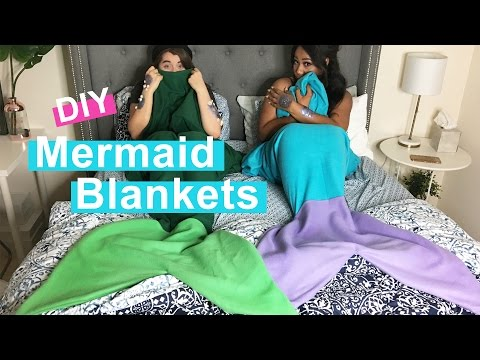 WHATDAYMADE DIY: No Sew Mermaid Blanket + Scales Mp3