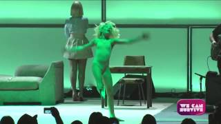 Sia   Chandelier (Live At We Can Survive, Hollywood Ball) SIA SHOWED HER FACE FINALLY!!!