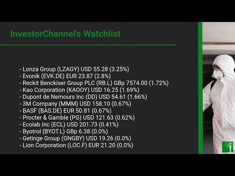InvestorChannel's Disinfection Watchlist Update for Monday, July 06, 2020, 18:17 EST