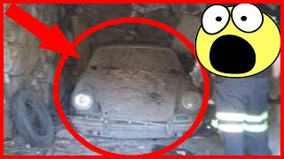 Abandoned Porsche 912 that was buried in a barn 45 years ago