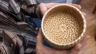 Плетение стенок спиральным плетением