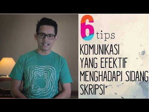Video DJ Arie - Tips Komunikasi Efektif Saat Sidang Skripsi
