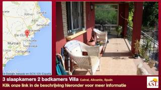 preview picture of video '3 slaapkamers 2 badkamers Villa te Koop in Catral, Alicante, Spain'