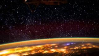 Планета Земля вид северного сияния из космоса - Видео онлайн