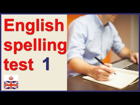 English spelling test - Part one - YouTube